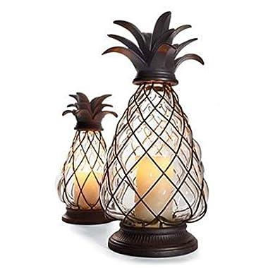 The Lakeside Collection Pineapple Hurricane Lantern
