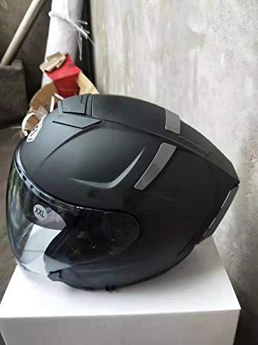 IAMZHL NEU Motorradhelm Open Face Doppellinsenhut Moto MotorradRennhelm-a6-L