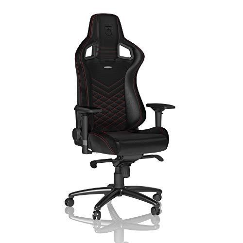 noblechairs Epic Gaming Stuhl - Bürostuhl - Schreibtischstuhl - PU-Kunstleder - Inklusive Kissen - Schwarz/Rot