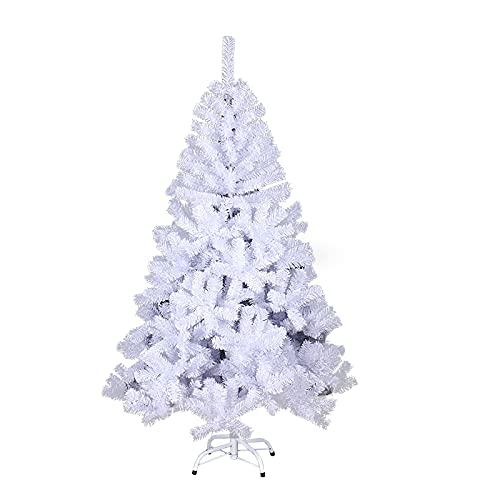 SWANEW Albero di Natale 1,8 m, bianco, unico albero di Natale artificiale, decorazione natalizia ignifuga, per la decorazione di Natale