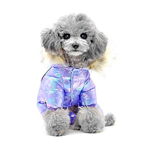 LWWOG Pet Small Dog Clothes Costume Dog Clothes Colorful Caped Four-Legged Sweater Keep Warm Button Pet Clothes