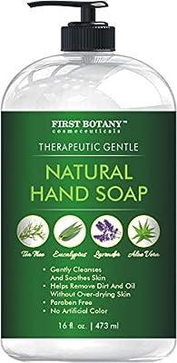 Tea Tree Eucalyptus Lavender Hand Soap & Aloe Vera Soap - Multipurpose Liquid tea tree oil Hand Wash with Pump dispenser - Natural Bathroom Soap - 16 fl oz
