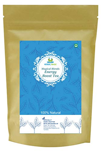 Herbal Magic Magical Blends Energy-Boosting Tea - Natural Immunity Boosting Drink - Healthy Moringa Tea - Herbal Detox & Uplifting Pack - Antioxidants Infused Tea - Herbal Stress Reliever, 100g