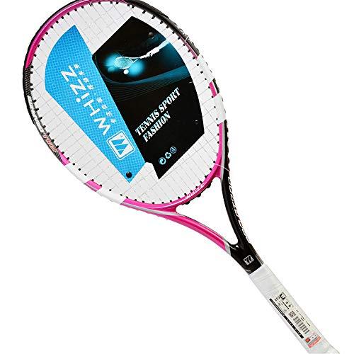 ZKDY Racchetta da Tennis Full Carbon Racchetta da Tennis Full Carbon One in Fibra di Carbonio per Inviare Una Borsa per Racchette-Rosa