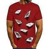Morton PegfwaS T-Shirt Estiva da Uomo t-Shirt Manica Corta Stampa Digitale 3D Girocollo
