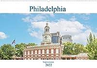 Philadelphia - Impressionen (Wandkalender 2022 DIN A2 quer): Der Kalender nimmt Sie mit in die weltberuehmte Metropole in Pennsylvania am Delaware River, Philadelphia (Monatskalender, 14 Seiten )