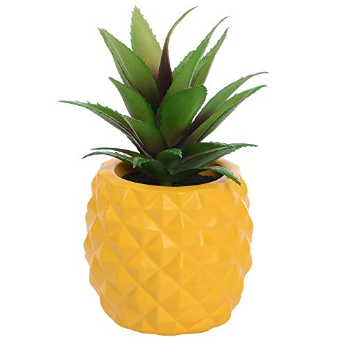 Lvydec Potted Artificial Succulent Decoration, Fake Pineapple Plant for Home...