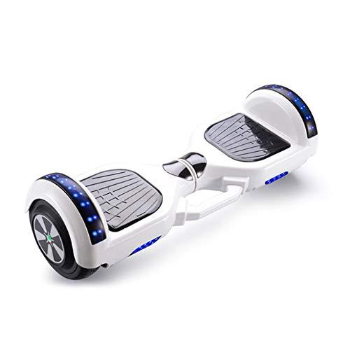 Kikioo 7-Zoll-Balance Board, Wiederaufladbare Selbst Balancing elektrischer Roller, Skateboard Wheels Crawler Buggy mit bunten LED-Licht, Motor 350W integrierten Bluetooth-Lautsprecher-Weihnachtsgesch