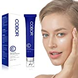 COBOR Eye Cream with Ball Massager Anti-Wrinkle Gel Eye Repair Snail Serum Firming Eye Balm for Dark Circles Puffiness Fine Lines 0.5fl Oz