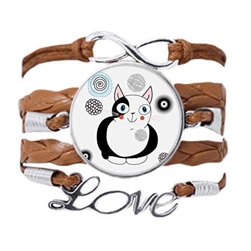 DIYthinker - Pulsera de cadena de amor, diseño de gato gordo