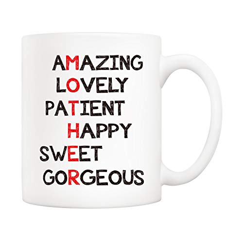 5Aup Christmas Gifts Definition Mother Funny Coffee Mug for Mom, Best Mothers Day Gifts from...