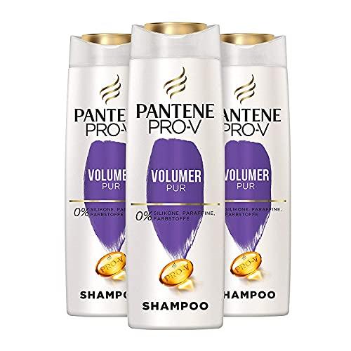 Pantene Pro-V Volumen Pur Shampoo Für Feines, Plattes Haar, 3er Pack (3 x 500 ml), Haarpflege, Shampoo Damen, Volumen Shampoo, Volumen Haare, Ohne Silikon, Beauty