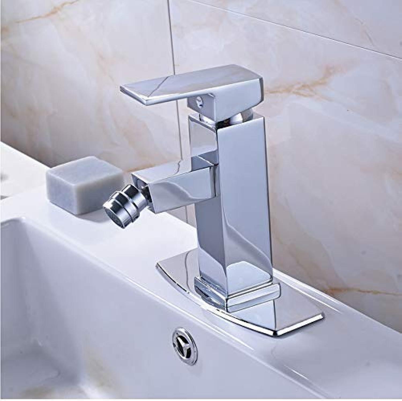 Oudan Faucet Taps Deck Mounted Bathroom Woman Bidet Faucet Single Lever Hot And Cold redate Lavatory Sink Mixer Tap Bright Chrome (color   -, Size   -)