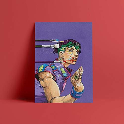 Rohan Kishibe Jojo Diamond es irrompible 50x70cm Frameless,Painting Pintura Mural Arte De La Pared HD Impreso Imágenes Lienzo Decoración