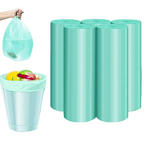 Biodegradable Garbage Bag, 4 Gallon Compost Trash Bags Strong Rubbish Can Liners Unscented Wastebasket Bags for Kitchen Bathroom Home Office, 100 Counts