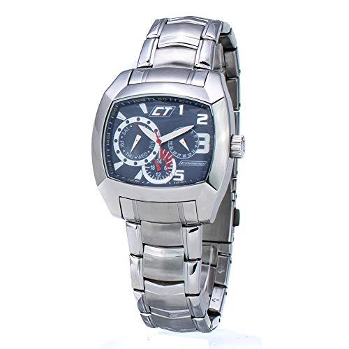 Chronotech Herren Analog Quarz Uhr mit Edelstahl Armband CC7049M-03M