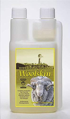 Woolskin Wollwaschmittel und Shampoo für Schaffell, Lammfell, gewachsenes Lammfell, Fleece & Wollwaren, 500 ml