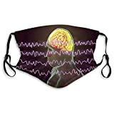 Reusable Cotton Mouth Covers eeg electroencephalogram Brain Wave Awake State Face Covers