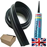 20mm Garage Door Floor Seal Weather Threshold Draught Excluder - (7ft 6') 2300mm Free Sealant & Easy to Follow Installation Guide