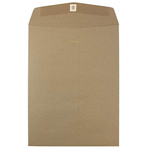 JAM PAPER 9 x 12 Premium Envelopes with Clasp Closure - Brown Kraft Paper Bag - 10/Pack