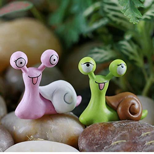 Zonfer 5pcs Miniatur Schnecken Figurine Fee Garten Puppenstuben Ornament Bosai Garten Innendekoration Zufällige Farbe