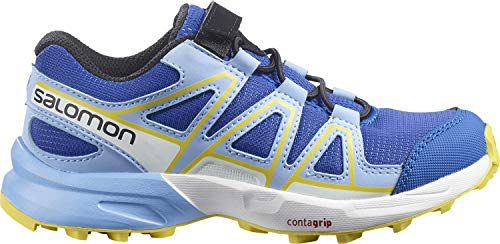 Salomon Speedcross Bungee K, Zapatillas De Trail Running Y Outdoor Actividades, Azul (Turkish Sea/Little Boy Blue/Lemon Zest), 27 EU