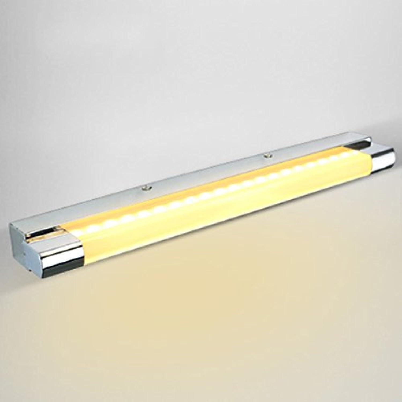 & Spiegellampen LED Spiegel Scheinwerfer, Schminktisch Moderne Badezimmer Wandleuchten Edelstahl Acryl Badezimmerbeleuchtung (Farbe   Warmes Licht-7w 45cm)