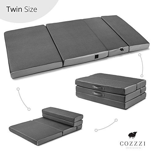 Cozzzi Trifold Foam Folding Mattress - Lightweight and Portable...