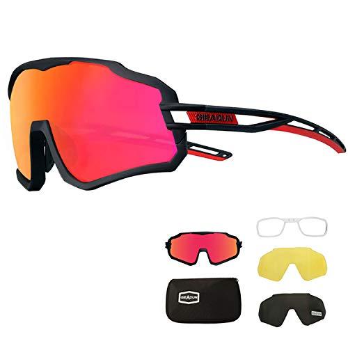 Gafas de Ciclismo Polarizadas con 3 Lentes Intercambiables gafas mtb gafas deportivas hombre Mujeres UV 400 Anti Viento para ciclismo, conducir, correr