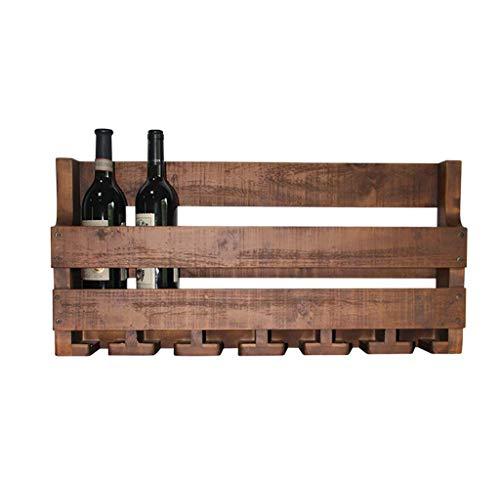 WLABCD Estante de Vino Inicio Titular Rojo Restaurante Bar S, Tipo Industrial Montado en Pared/Estante de Decoración/Estante de Copa de Vino para Cena, Cocinas, Sala de Estar Colgando Porta,50 cm