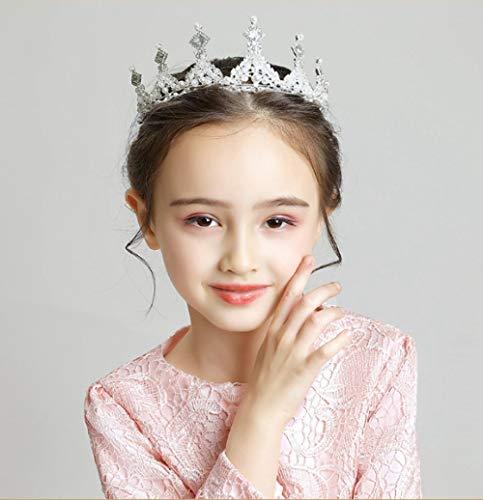 Kinderen Headdress Kroon Meisjes Haaraccessoires Roze Goud Haaraccessoires Klein Meisje Jurk Accessoires Prestaties Sieraden Zilver Nieuw