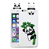 Case for iPhone 6 / 6s, 3D Cute Cartoon Cover TPU Silicone Lightweight Thin Flexible Candy colors Anti-Scratch Waterproof Bumper Elastic Protective Shell - White Panda