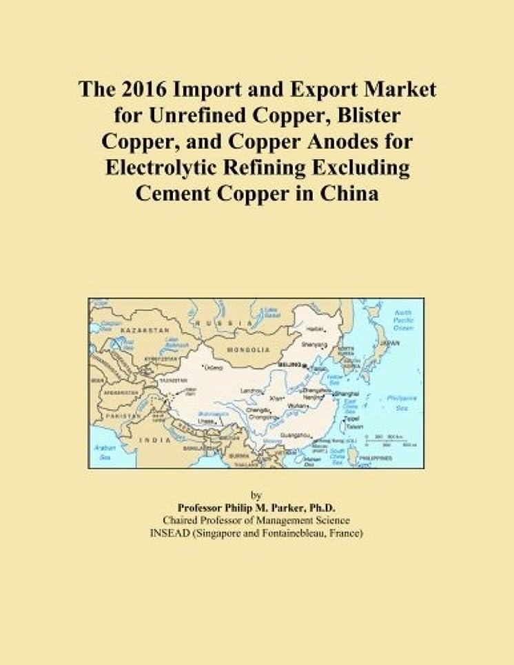 常習的おとうさんアストロラーベThe 2016 Import and Export Market for Unrefined Copper, Blister Copper, and Copper Anodes for Electrolytic Refining Excluding Cement Copper in China