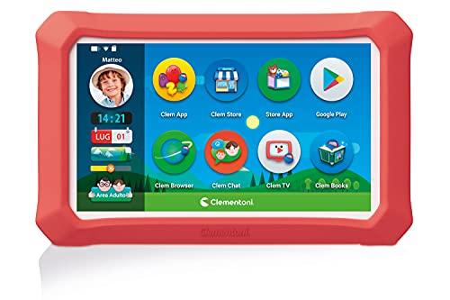 Clementoni- My First 8'' Plus, Tablet per Bambini-clempad 3 Anni, 8 Pollici, Android 9, 16 GB di Memoria, 3G o...