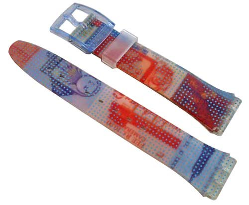 Swatch Armband 17mm TRAVEL Diary AGN195