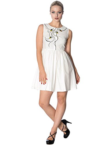 Banned 5432 - Vestito da dancing Days bianco M