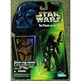 Star Wars Death Star Gunner with Imperial Blaster and Assault Rifle Power of the Force Green Card