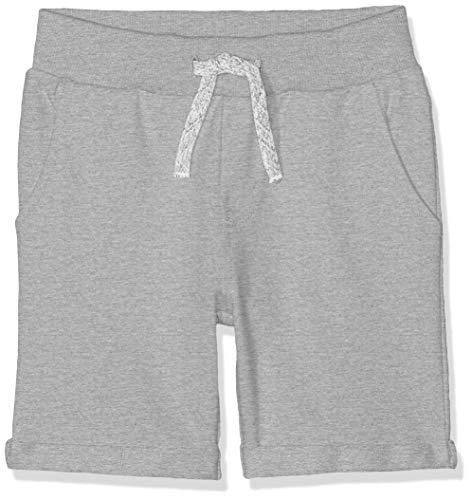 NAME IT Nkmvermo Long Swe Shorts UNB Noos Pantalones Cortos, Gris (Grey Melange Grey Melange), 98 para Niños