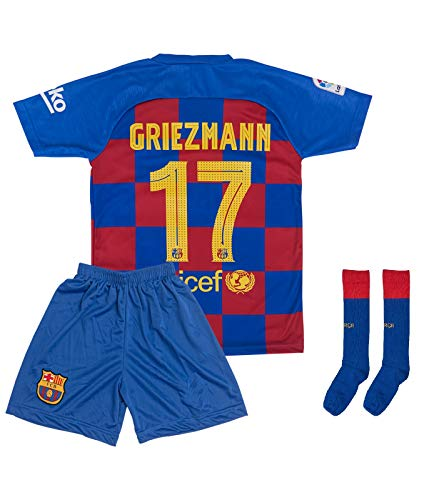 ATB Barcelona 2019/2020#7 Griezmann Heim Kinder Fußball Trikot und Shorts mit Socken Kinder und Jugend Größe