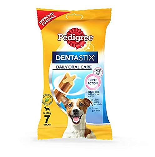 Pedigree DentaStix Snacks für junge und kleine Hunde (4-10kg), 10x7 Stück