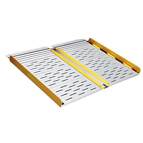 JLXJ Rampe 60cm Lang Rollstuhl/Schwelle Rampe, Tragbares Klappbares Aluminium rutschfeste Home Leichte Rampen, für Schritte Treppen Türen Roller (Size : 60cm(2ft))