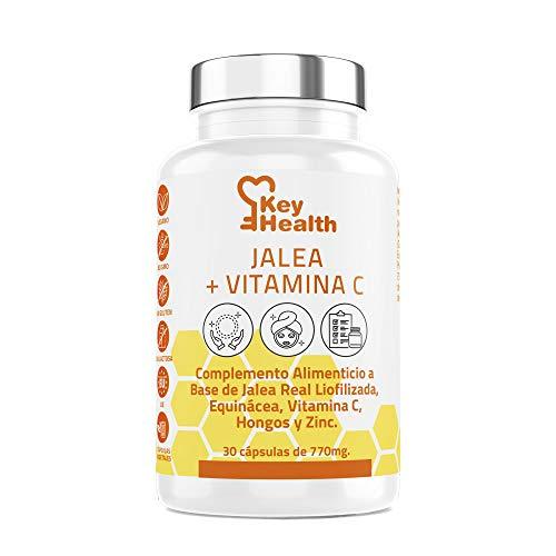 Key Health | Jalea Real con Vitamina C y Equinácea | Con Zinc Para Mayor Fuerza y Energía | Refuerza el Sistema Inmune y las Defensas | Para Hombres y Mujeres | Libre de Alérgenos y GMO | 30 Cápsulas