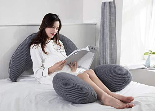 Chunjiao Mondkissen Bucht Side Sleeping Multifunktionskissen Magenhub Schwangere Frauen Umarmung Schlafendes Kissen Taille Kissenseite Sleeping während der Schwangerschaft 95 * 28 * 11 grau U-förmiges