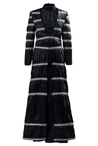 Bilicos Superhroe Stripe Saco Negro Blusa Fina Pantalones Set Yennefer of Vengerberg Traje Cosplay Disfraz Mujeres L