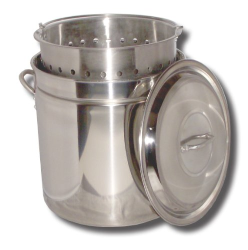King Kooker KK82SR Ridged Stainless Steel Pot,...