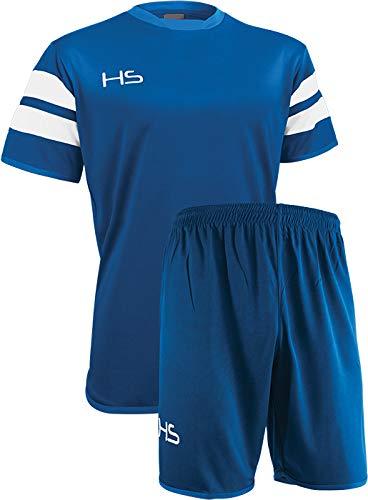 HS S17, Kit Calcio Unisex Bimbi, Blu Royal/Bianco, XS