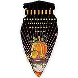 MLNHY Cubierta facial cómoda a prueba de viento, chica de dibujos animados mística con sombrero de fruta y follaje de otoño en marco de madera, decoraciones faciales impresas para todo el mundo