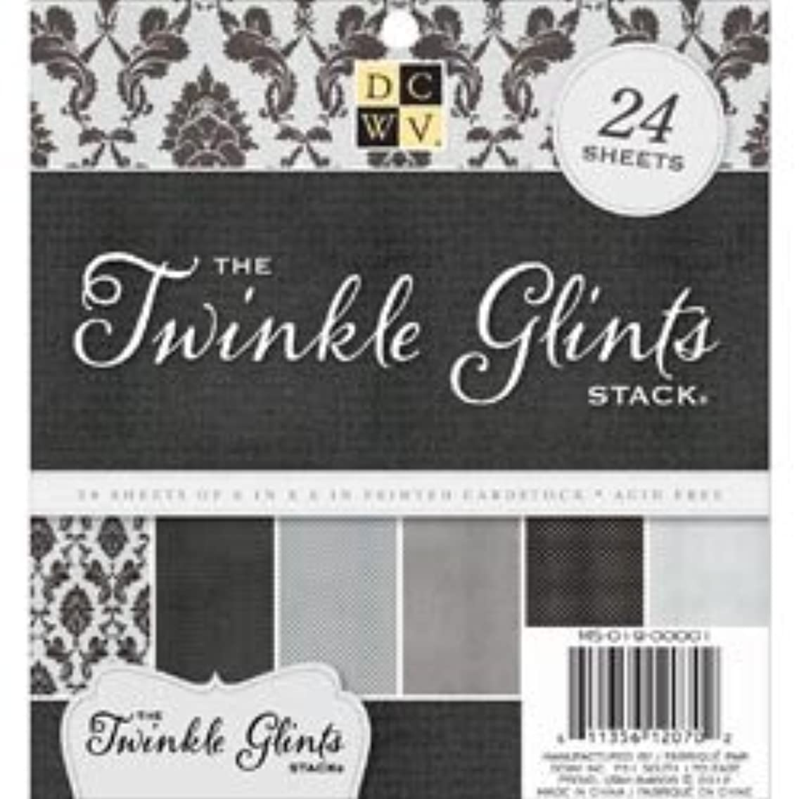 Bulk Buy: Diecuts With A View (3-Pack) DCWV Paper Stack 6in. x 6in. 24/Pkg Twinkle Glints MS019001