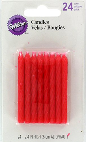 Wilton 24 Pack Birthday Candles, Red