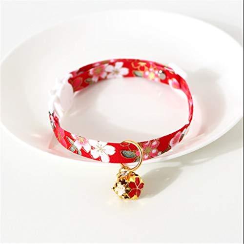 Patrón de flores moda ajustable collar de gato campana collar para gatos cachorros collares gatos mascotas plomo correas suministros para mascotas